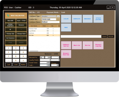 Wehaso Salon POS Software